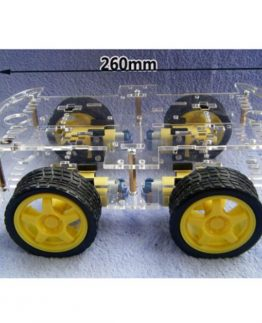 4WD smart robot chassis, ideal for Arduino, Raspberry Pi, BBC Micro bit and other micro processors.
