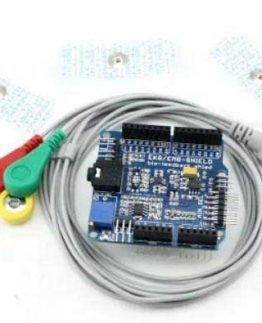 EMG ECG Arduino Shield with Electrode Prob