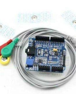 EMG ECG Arduino Shield with Electrode Prob