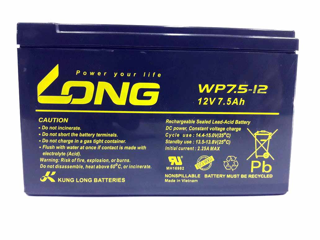 Long Battery 12v 7 5ah
